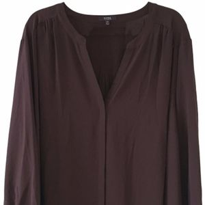 NYDJ Brown V-Neck Blouse Top Size 3X